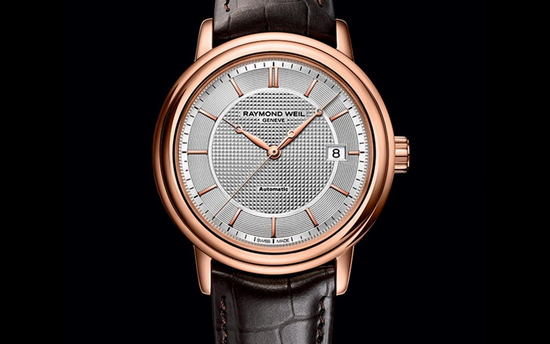 Raymond-Weil-Maestro-Trois-Aiguilles-Or-Rose