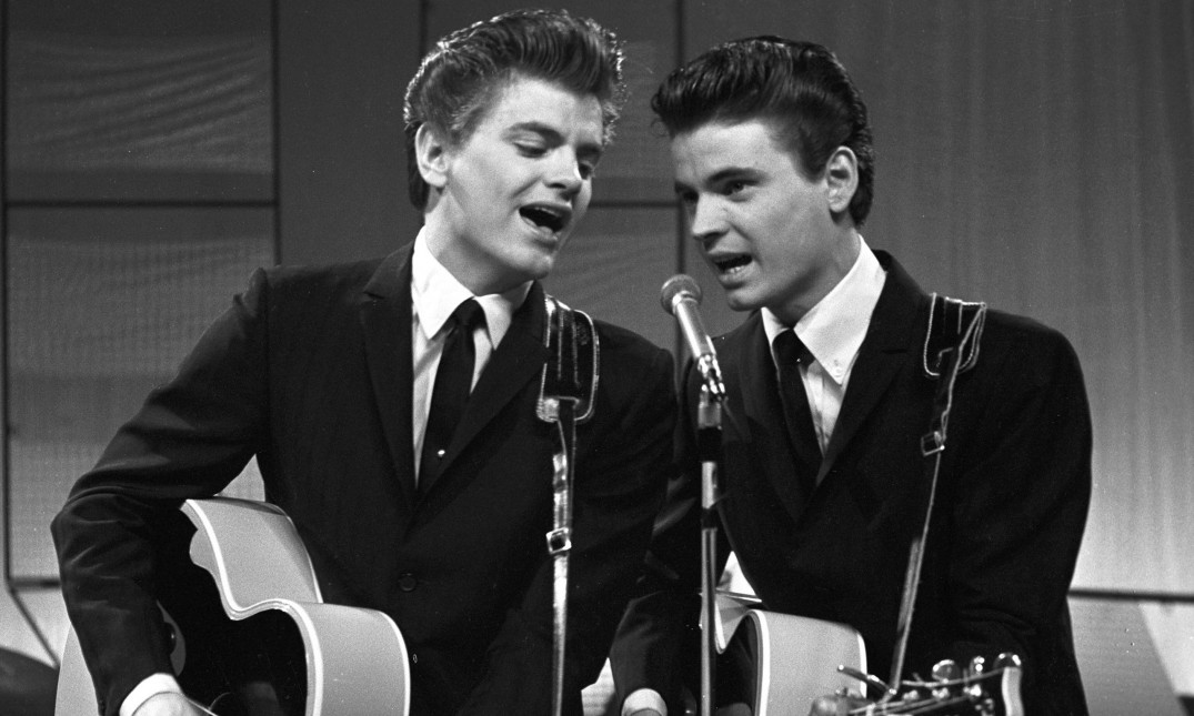 Phil Everly, left, with brother Don